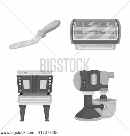 Vector Design Of Bakery And Natural Icon. Set Of Bakery And Product Vector Icon For Stock.