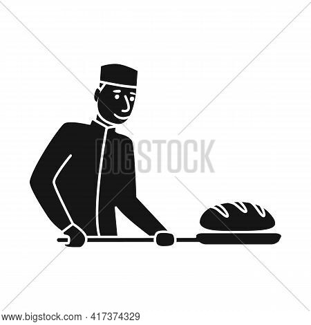 Vector Illustration Of Baker And Spatula Symbol. Collection Of Baker And Bread Stock Symbol For Web.