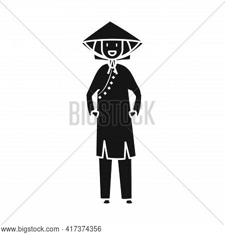 Vector Design Of Vietnamese And Woman Icon. Set Of Vietnamese And Girl Vector Icon For Stock.
