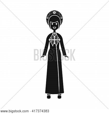 Vector Illustration Of Vietnamese And Woman Icon. Collection Of Vietnamese And Girl Vector Icon For