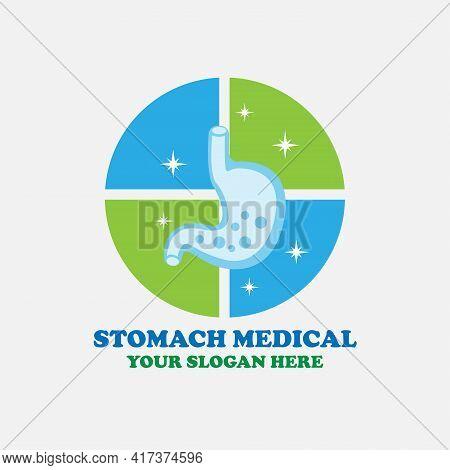 Stomach Design Logo Medical. Stomach Illustration Logo Vector