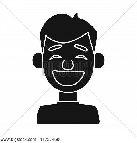 Isolated Object Of Guy And Laugh Icon. Collection Of Guy And Emotion Stock Vector Illustration.