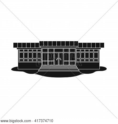 Vector Illustration Of Store And Market Symbol. Collection Of Store And Mini Stock Symbol For Web.