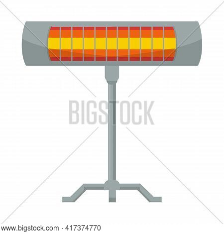 Isolated Object Of Heater And Infrared Symbol. Web Element Of Heater And Lamp Vector Icon For Stock.