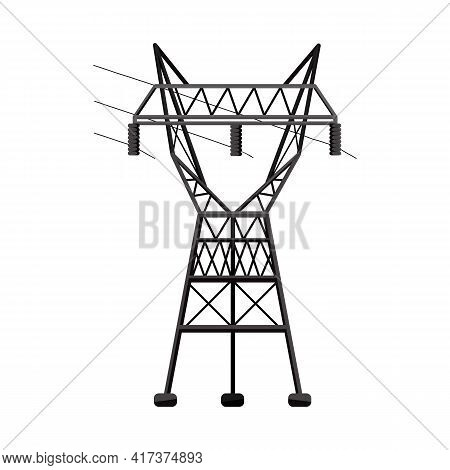Isolated Object Of Electrical And Station Sign. Web Element Of Electrical And Transmit Stock Vector