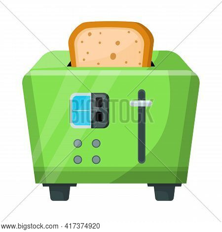 Isolated Object Of Toaster And Toast Logo. Web Element Of Toaster And Menu Vector Icon For Stock.