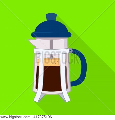 Vector Illustration Of Teapot And Coffee Icon. Set Of Teapot And Kitchen Stock Vector Illustration.