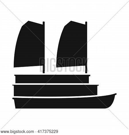 Isolated Object Of Ship And Vietnamese Symbol. Collection Of Ship And Boat Vector Icon For Stock.