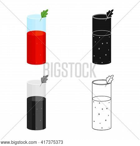 Vector Illustration Of Juice And Tomato Logo. Set Of Juice And Red Vector Icon For Stock.