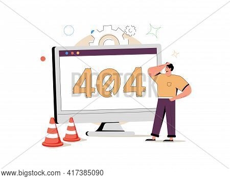 Web Development Abstract Concept Vector Illustration Set. Microsite Interface, Cross-browser Compati