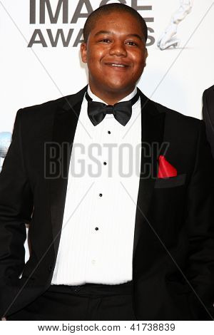 LOS ANGELES - FEB 1:  Kyle Massey arrives at the 44th NAACP Image Awards at the Shrine Auditorium on February 1, 2013 in Los Angeles, CA.