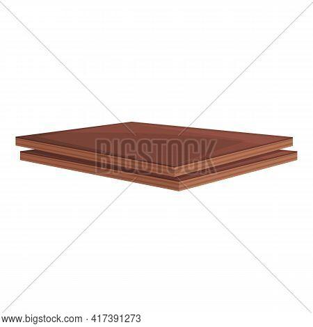 Plywood Hardwood Icon. Cartoon Of Plywood Hardwood Vector Icon For Web Design Isolated On White Back