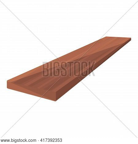 Plywood Long Board Icon. Cartoon Of Plywood Long Board Vector Icon For Web Design Isolated On White