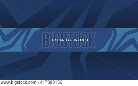 Abstract Blue Channel Banner Template