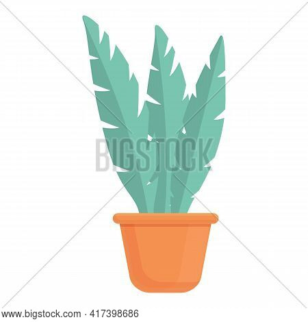Scientist Flower Pot Icon. Cartoon Of Scientist Flower Pot Vector Icon For Web Design Isolated On Wh