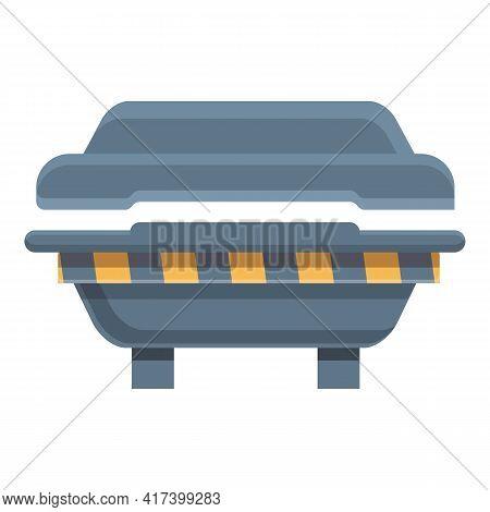 Formation Press Form Machine Icon. Cartoon Of Formation Press Form Machine Vector Icon For Web Desig