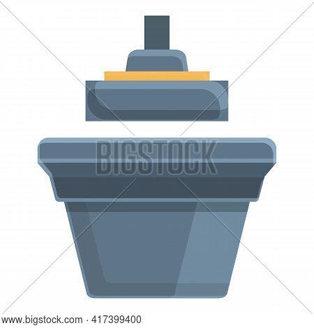 Control Press Form Machine Icon. Cartoon Of Control Press Form Machine Vector Icon For Web Design Is