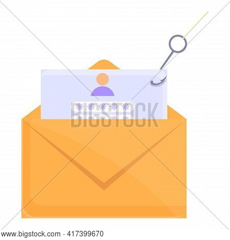 Phishing Mail Icon. Cartoon Of Phishing Mail Vector Icon For Web Design Isolated On White Background