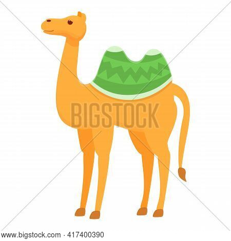 Arab Camel Icon. Cartoon Of Arab Camel Vector Icon For Web Design Isolated On White Background