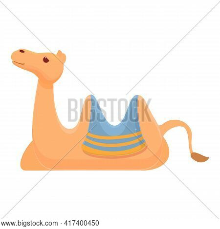Relax Camel Icon. Cartoon Of Relax Camel Vector Icon For Web Design Isolated On White Background