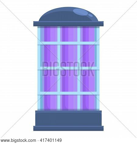 Outdoor Uv Lamp Icon. Cartoon Of Outdoor Uv Lamp Vector Icon For Web Design Isolated On White Backgr