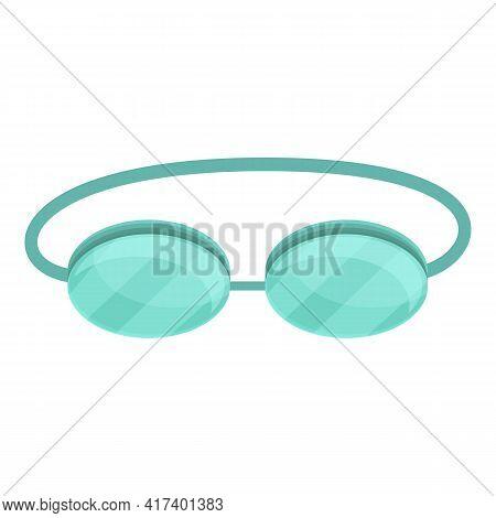 Solarium Eyeglasses Icon. Cartoon Of Solarium Eyeglasses Vector Icon For Web Design Isolated On Whit