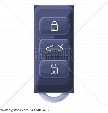 Driver Smart Car Key Icon. Cartoon Of Driver Smart Car Key Vector Icon For Web Design Isolated On Wh