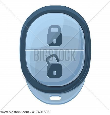Button Smart Car Key Icon. Cartoon Of Button Smart Car Key Vector Icon For Web Design Isolated On Wh