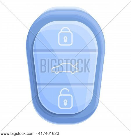 Classic Smart Car Key Icon. Cartoon Of Classic Smart Car Key Vector Icon For Web Design Isolated On