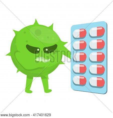 Antibiotic Resistance Icon. Cartoon Of Antibiotic Resistance Vector Icon For Web Design Isolated On