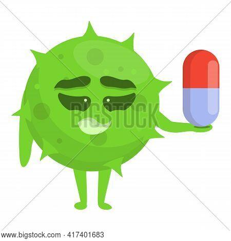 Drug Antibiotic Resistance Icon. Cartoon Of Drug Antibiotic Resistance Vector Icon For Web Design Is