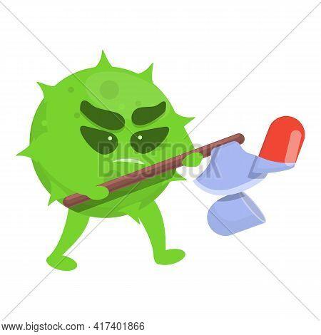 Fight Antibiotic Resistance Icon. Cartoon Of Fight Antibiotic Resistance Vector Icon For Web Design