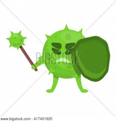 Bacilli Antibiotic Resistance Icon. Cartoon Of Bacilli Antibiotic Resistance Vector Icon For Web Des