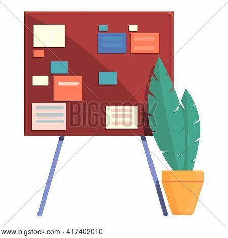 Board Task Schedule Icon. Cartoon Of Board Task Schedule Vector Icon For Web Design Isolated On Whit