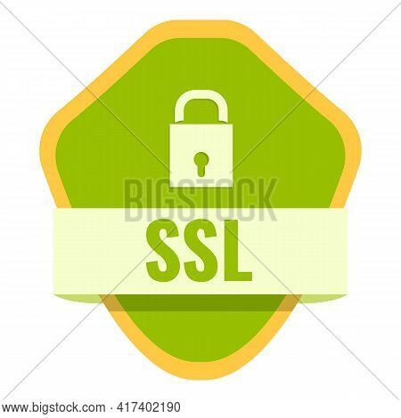 Ssl Certificate Icon. Cartoon Of Ssl Certificate Vector Icon For Web Design Isolated On White Backgr