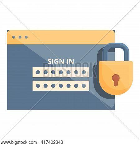 Login Password Protection Icon. Cartoon Of Login Password Protection Vector Icon For Web Design Isol