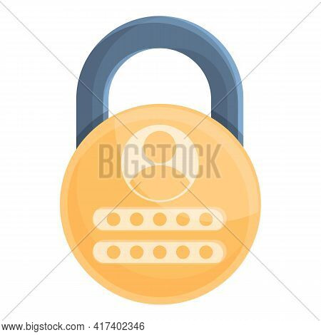 Padlock Password Protection Icon. Cartoon Of Padlock Password Protection Vector Icon For Web Design