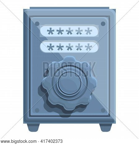 Metal Safe Password Protection Icon. Cartoon Of Metal Safe Password Protection Vector Icon For Web D