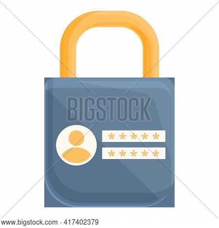 Firewall Password Protection Icon. Cartoon Of Firewall Password Protection Vector Icon For Web Desig