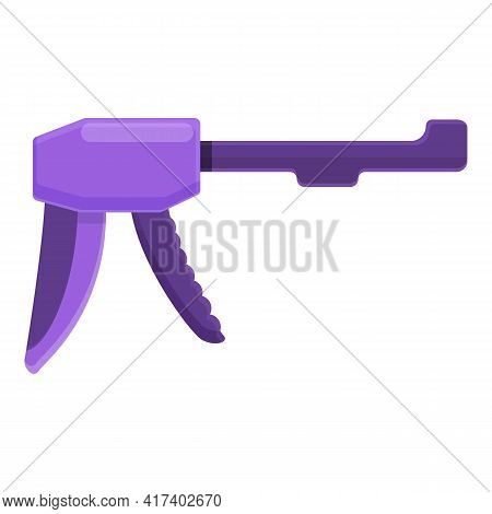 Cartridge Silicone Caulk Gun Icon. Cartoon Of Cartridge Silicone Caulk Gun Vector Icon For Web Desig