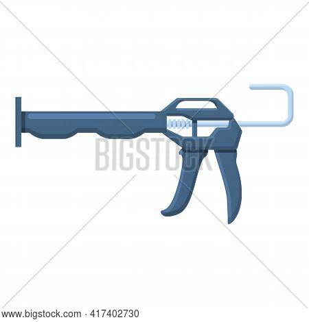 Waterproof Silicone Caulk Gun Icon. Cartoon Of Waterproof Silicone Caulk Gun Vector Icon For Web Des
