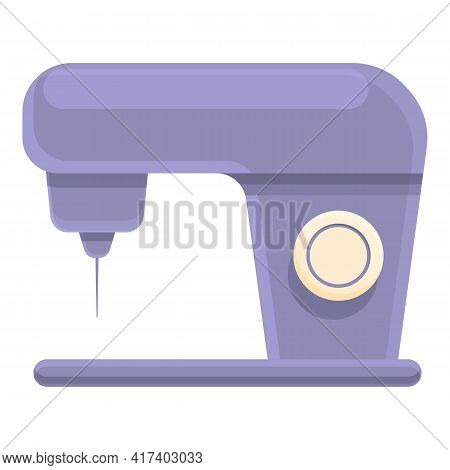 Sewing Machine Icon. Cartoon Of Sewing Machine Vector Icon For Web Design Isolated On White Backgrou