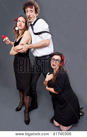 Valentines threesome imploration