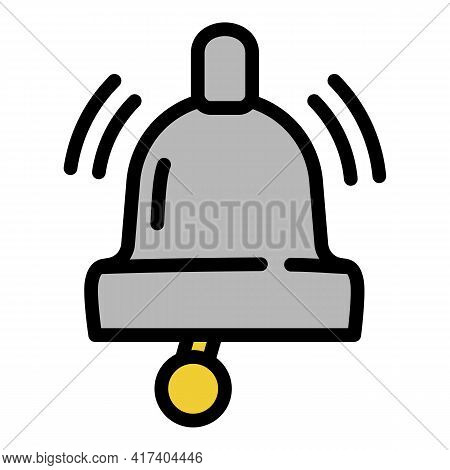 Boxing Bell Icon. Outline Boxing Bell Vector Icon For Web Design Isolated On White Background