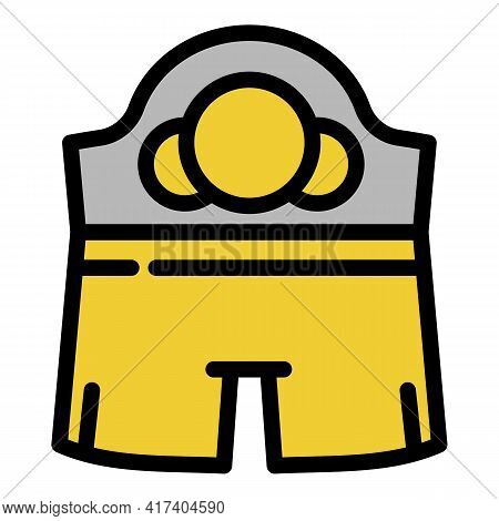 Boxing Clothes Icon. Outline Boxing Clothes Vector Icon For Web Design Isolated On White Background