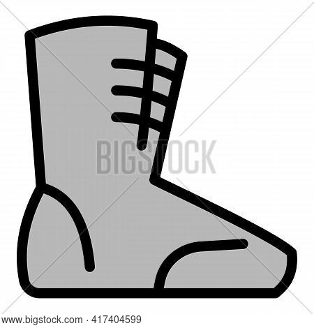 Boxing Shoes Icon. Outline Boxing Shoes Vector Icon For Web Design Isolated On White Background