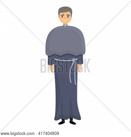 Priest Robe Icon. Cartoon Of Priest Robe Vector Icon For Web Design Isolated On White Background