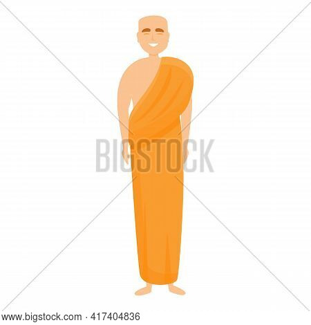 Indian Priest Icon. Cartoon Of Indian Priest Vector Icon For Web Design Isolated On White Background