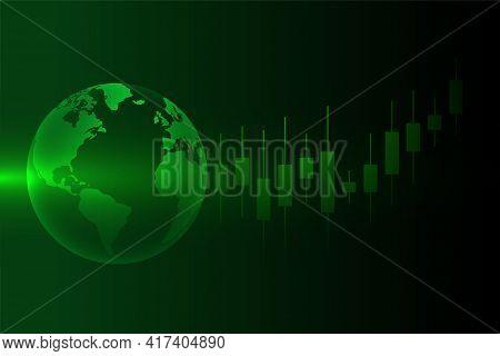 Stock Market Forex Trading Concept Background Design Vector Illustration