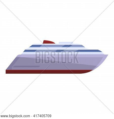 Ferry Boat Icon. Cartoon Of Ferry Boat Vector Icon For Web Design Isolated On White Background